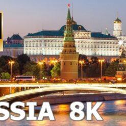 Rusija – prekrasni pejzaži i krajolici s opuštajućom glazbom / 8K Ultra HD