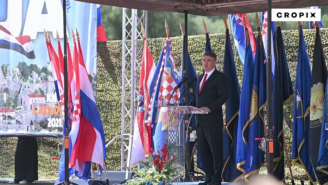 Govor predsjednika RH Zorana Milanovića na obilježavanju 26. obljetnice vojno-redarstvene operacije Oluja