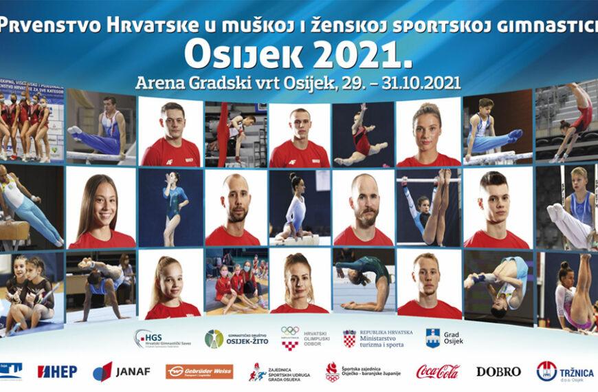 Najveće zvijezde hrvatske gimnastike nastupaju na rekordnom Prvenstvu Hrvatske u Osijeku