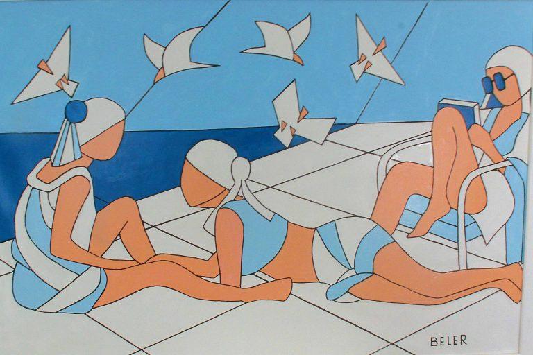 Otvorenje izložbe slika Miljenka Belera – Djevojke, more i galebovi