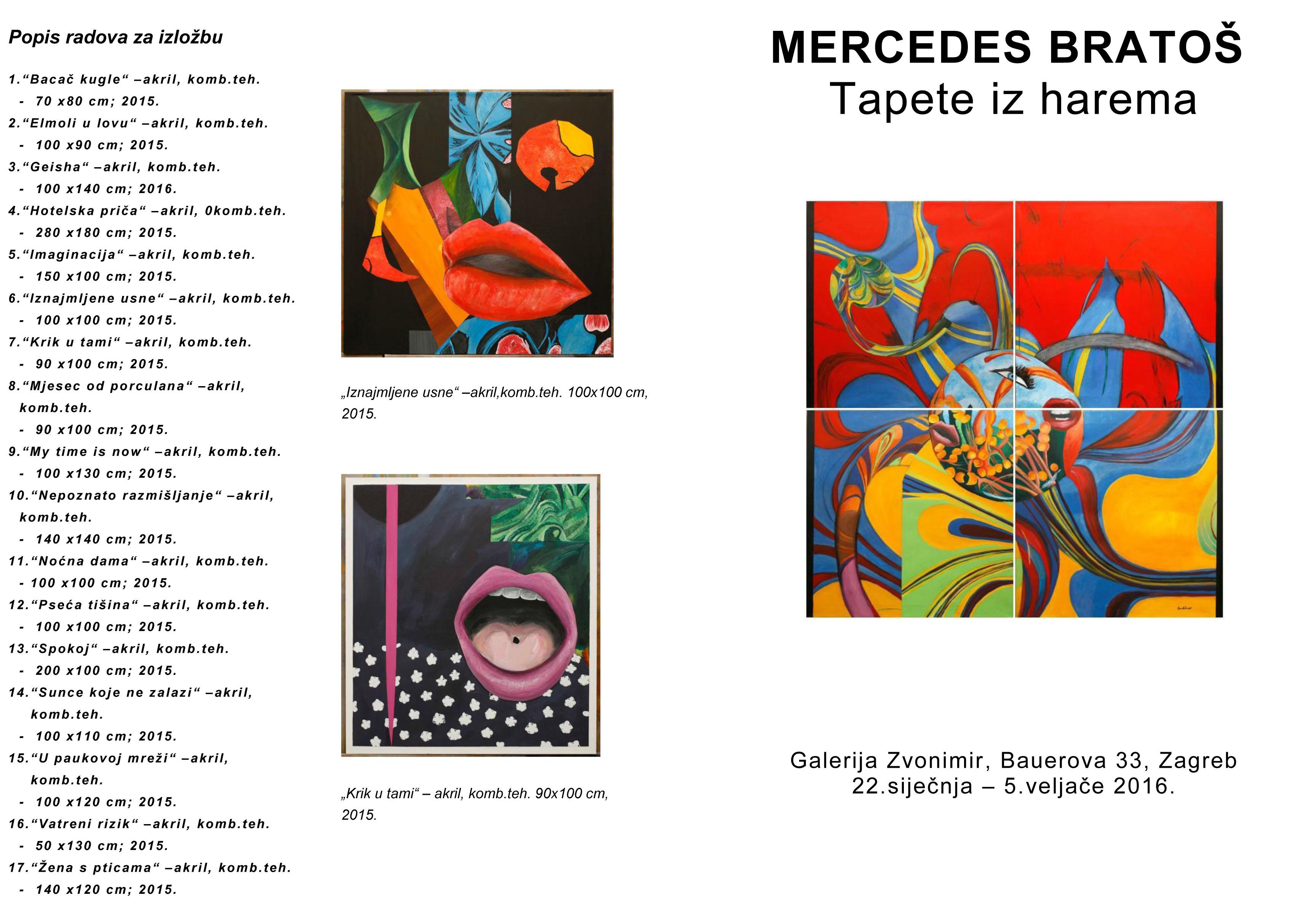 Mercedes Bratoš Tapete iz harema 1