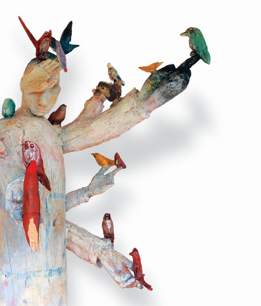 Autoportret s pticama 2