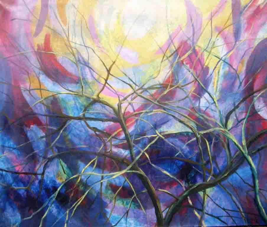 Nives Missoni-Zivotni isjecak prirode-2003 g ulje-platno 86 x 100 cm