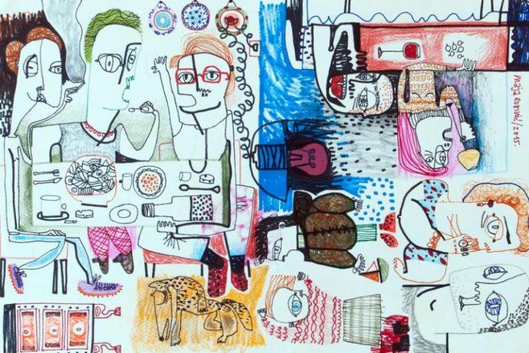 Najava ciklusa crteža akademske slikarice Maje Rubinić