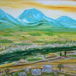 Stara Hercegovina ulje na platnu Matej Škarica 2013