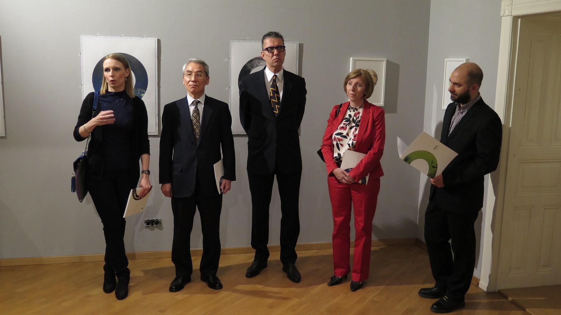 Japanski veleposlanik g. Keiji Takiguchi otvorio izložbu grafika slovensko-hrvatskog akademskog umjetnika Leona Zakrajšeka